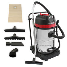 Industrial Vacuum Cleaner Wet & Dry Vac Extra Powerful Stainless Steel 80L 3000W