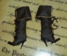 MATTEL BARBIE DOLL THE PIRATE MODEL MUSE FAUX BROWN LEATHER BOOTS