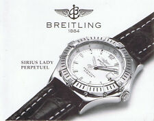 BREITLING SIRIUS LADY PERPETUEL ANLEITUNG INSTRUCTIONS