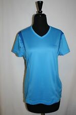 Reebok Play Dry Medium 8 10 Sports top Blue V Neck Workout Athletic M Yoga