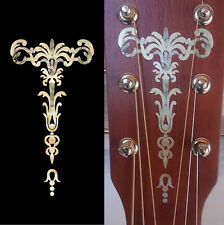 Gothic Torch (Aged White Pearl) Inlay Stickers Decals Guitar Peg Head