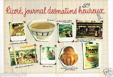 Publicité advertising 1982 (2 pages) Ricoré Chicoré Café Solubles