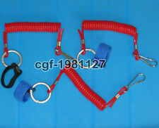 3pcs Coiled Paddle Leash KAYAK Canoe Fishing Rod lanyard Free Shipping