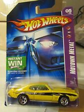 Hot Wheels '69 Pontiac GTO Motown Metal Yellow Instant Win Card