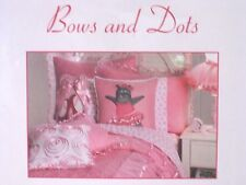 NEW PRIMA BALLERINA TUTU BALLET BOWS AND DOTS FULL SHEET SET 4 PC PINK & WHITE