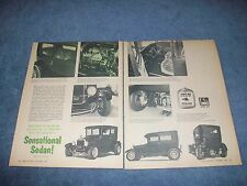 "1927 Ford 2-Door Model T Vintage Street Rod Article ""Sensational Sedan"" Tall-T"