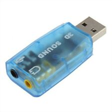 USB 1.1 Mic/Speaker Surround Sound 7.1 CH 3D Audio Card Adapter for PC or Laptop
