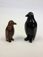 Kamagong Wood Hand Carvings Of Penguins Standing (443)