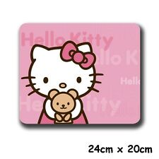 """9"""" Anime HelloKitty Pink Kitty Cat & Bear Gaming Mouse Pad Mouse Mat"""