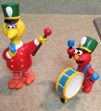 APPLAUSE SESAME STREET Elmo & Big Bird Marching Band PVC FIGURES CAKE TOPPER