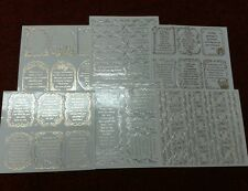 Pinflair 6 Sheets  PACK 6 Verses and Borders, Occasions Peel Offs silver/gold.