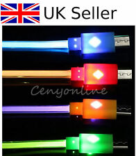 GREEN LED light Micro USB Data Sync Charger Cable for Samsung Galaxy S3 S4 Note