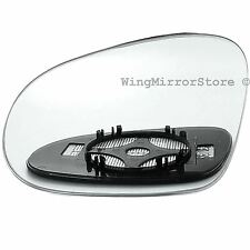 Left Passenger side Clip on heated wing door mirror glass for VW Golf mk5 03-08