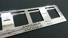 2X JAGUAR EUROPEAN LICENSE NUMBER PLATE SURROUND FRAME HOLDER.