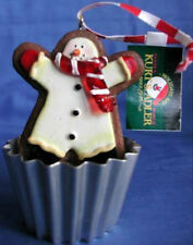 RETIRED JIGGLING GINGERBREAD COOKIE IN CUPCAKE MOLD ORNAMENT - KURT S. ADLER