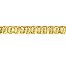"36 Yds Champagne Light Gold Scroll Gimp 1/2"" Conso D01 Trim Upholstery Soutache"