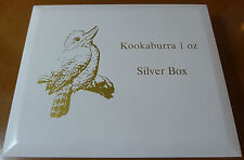 Kookaburra Wooden Coin Box - Holds 40 X 1 oz Coins