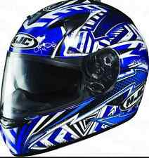 HJC IS-16 SPECTER MOTORCYCLE HELMET & SUNVISOR NEW XL Blue Motorbike RRP$349