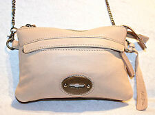 NEW SAMPLE BAG/RRP$149 HOLLY RIVA Beautiful Beige Leather Cross Body Bag/Clutch