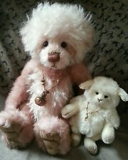 Charlie Bears Rosemary and Thyme mohair/alpaca bear and lamb limited edition set