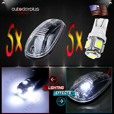 5xRoof Running Light Clearance lamp Covers with Base Housing+5 LED Bulbfor Dodge