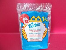 New McDonalds Happy Meal Toy Sit In Style Barbie Doll Figurine w/ Stickers 1999