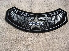 2003 HARLEY OWNERS GROUP,  20 YEARS OF H.O.G. Cloth Emblem, NEW
