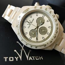 Toy Watch Fluo Extreme Chronograph Horn Plasteramic Bracelet Watch FLE08HR NWT