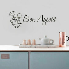 Bon Appetit Wall Sticker French A Chef Quote Wall Decals Home Kitchen Wall Decor
