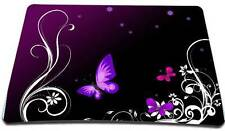 COMPUTER MOUSEPAD MOUSE MAT MICE PAD PURPLE BUTTERFLY