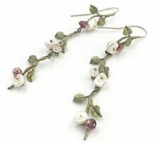Tea Rose Long Earrings By Michael Michaud, Silver Seasons Exclusively Ours! 4535