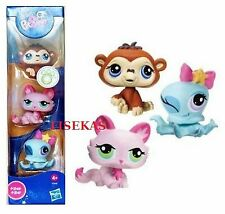 LPS Littlest Pet Shop 3 Pack Set Cat #1345 Octopus #1346 Monkey #1347 NEW