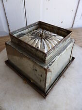 Antique ice cream mould - square