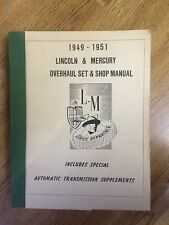 1949-1951 Lincoln & Mercury Overhaul Manual