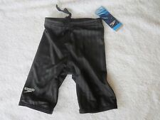 Speedo Aquablade Black Jammer Swimsuit Swim Youth size 24~NEW~FREE SHIP
