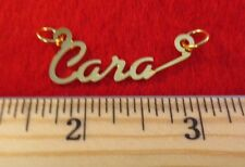 "14KT GOLD EP ""CARA"" PERSONALIZED NAMEPLATE WORD CHARM PENDANT 6062"