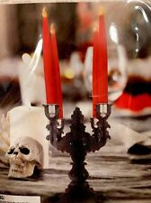 Halloween Glitter Candelabra Wood Table Top Centerpiece Decor For Tapered Candal