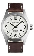 Glycine Men's Watch Incursore Brown Leather Strap Swiss Automatic 3874.11 LB7BF