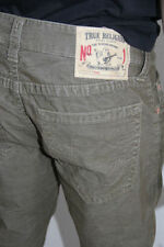 New True Religion Men Straight Green Corduroys Pants 38 x 32