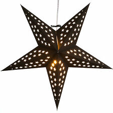 Noir Paper Star Light Lamp Lantern with 12 Foot Cord Included
