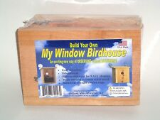 Build Your Own My Window Birdhouse KIT!! Window Mount, Nesting View, Educational