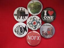 ONE DIRECTION 7-1in buttons badges Green Day, NOFX, Mutemath, Beatles  New