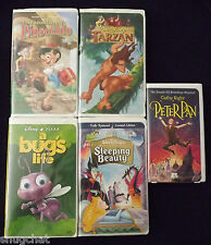 1 Lot of 5 VHS Movies Disney Warner Bros A & E Children's Family Favorites EUC
