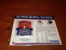 V3-19 NFL Super Bowl Patch Badge XXXIX New England Patriots Philadelphia Eagles!