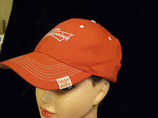 BUDWEISER BEER Anheuser-Busch Advertising Hat Red Cap
