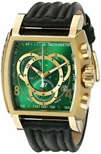 Swiss Made Invicta 20244 S1 Rally Chronograph Leather Band Green Dial Mens Watch