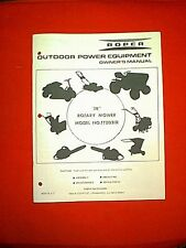 """ROPER (SEARS) TRACTOR 38"""" MOWER DECK ATTACHMENT MODEL TT2031R OWNER PARTS MANUAL"""