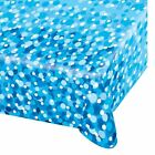 Happy Birthday Party Blue Bubbles Plastic Tablecloth Table Cover 6ft x4ft 551784
