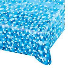 Fête Joyeux Anniversaire Bleu Bulles Plastique Nappe nappe 1.8 m x4ft 551784