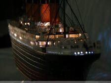 1:360 Titanic kit passenger liner ship model with light